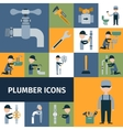 Plumber Icons Set vector image vector image