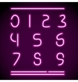 realistic neon alphabet numbers vector image vector image