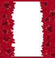 red chrysanthemum border vector image vector image