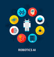 robotics ai concept icons