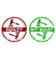 rubber stamp guilty and not guilty vector image vector image
