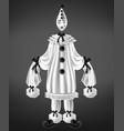 sad harlequin costume 3d realistic vector image vector image