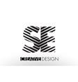 se s e lines letter design with creative elegant vector image vector image