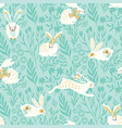 seamless pattern with bunnies for easter vector image vector image