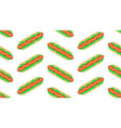 seamless pattern with hot dog vector image