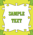 seamless puzzle frame vector image vector image
