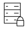 server lock network line icon minimal pictogram vector image vector image