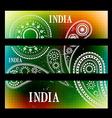 set of indian headers vector image