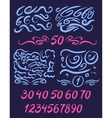 Set of numbers written by a brush with brush vector image vector image
