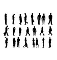 Set of people in silhouette style design