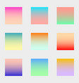 set squares blurred gradient nature colorful vector image vector image