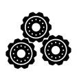 silhouette gear wheel machine cog icon vector image