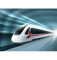Speed Train Railway Station Realistic Poster vector image