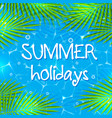 summer background with palm branches vector image vector image