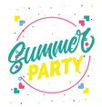 summer party circle frame background image vector image vector image