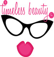 Timeless Beauty Lips Eyewear vector image vector image