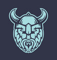 vikings logo element warrior in helmet with horns vector image vector image