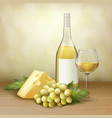 wine still life vector image