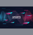 abstract modern sports style background with vector image vector image