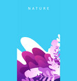 abstract vertical poster waves minimalism vector image vector image