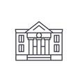 administrative building line icon concept vector image vector image