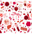 anemia doodle pattern vector image vector image