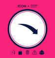 arrow down icon vector image vector image