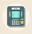 atm icon - payment terminal vector image vector image