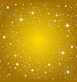 background golden starry sky eps 10 vector image vector image
