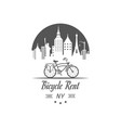 bicycle rent logotype vector image vector image
