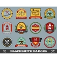 Blacksmith Badges Set vector image