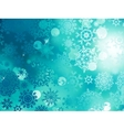 Blue Christmas background with snowflakes EPS 10 vector image vector image