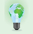 bulb world vector image