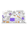 call center concept in flat vector image