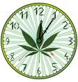 cannabis clock vector image vector image