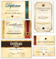 Certificate template set vector image