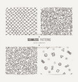 collection of abstract seamless patterns vector image