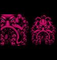 coloured an octopus vector image