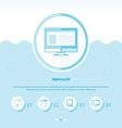 Computing Concept Design Template blue color vector image vector image
