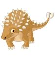 Cute ankylosaurus cartoon vector image vector image