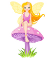 Cute Fairy on the Mushroom vector image vector image