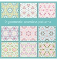 cute seamless colorful geometric pattern set vector image vector image