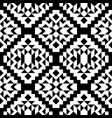 decorative black and white seamless pattern vector image vector image