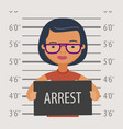 detained or arrested with sign in police station vector image vector image