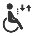 disability man pictograph flat icon lift isolated vector image vector image