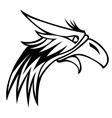 eagle mascot logo vector image vector image