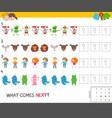 educational pattern task for children vector image vector image