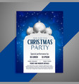 elegant invitation christmas flyer design template vector image vector image