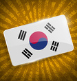 Flag of South Korea with old texture vector image