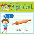 Flashcard letter R is for rolling pin vector image vector image
